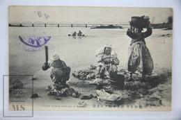 Old Postcard Korea - Korean Women Washing Clothes In Winter - Posted 1913 - Asia