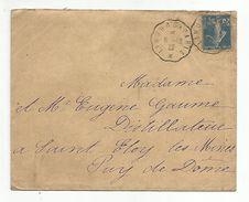 AMBULANT DE LIMOURS A PARIS DU 8/12/1922 - Poststempel (Briefe)