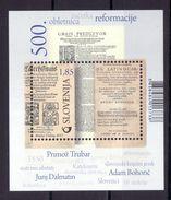 3333 Slowenien Slovenia Slovenie 2017 ** MNH Block 500th Ann. Protestantism Religion Primoz Trubar - Religioni