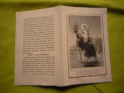 Image Religieuse Canivet 19 ème La Légende De Saint Christophe Letaille éditeur Pl 1010 - Santini