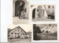 NASSEREITH TYROL AUTRICHE 4 PHOTOS TIREES D'UN ALBUM ANNEES 60(AUTO CHIEN ET POLICIER) - Lugares