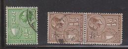 MALTA Scott # 167-8 Used - KGV Definitives - Malte (...-1964)