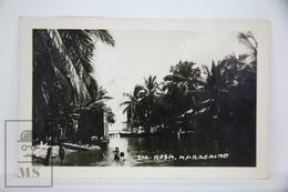 Old Real Photo Postcard Maracaibo - Venezuela, Sta Rosa - Children In River - Venezuela