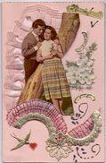 Kaart Relief - Gelukkige Feestdag - Liefde - Amour - Fiançailles