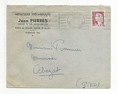 OBLITERATION MECANIQUE SUR LETTRE A EN TETE DE RIOM PUY DE DOME 1962 - Marcofilia (sobres)