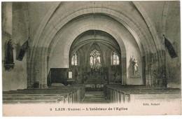 CPA, Lain, Yonne, L'Interieur De L'Eglise (pk35617) - Andere Gemeenten