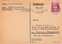 Allemagne - Berlin-Charlottenburg. Entier Postal De 1930. - [5] Berlin