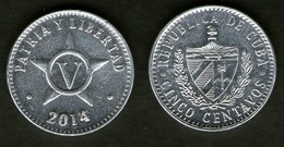 Cuba Kuba Moneta 5 Cent 2014 - Cuba