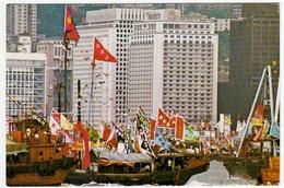 HONG KONG - GAILY ....THE MANDARIN ON THEIR WAY TO CELEBRATE TIN HAU FESTIVAL - 1975  - Vedi Retro - Cina (Hong Kong)
