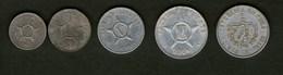 Cuba Kuba Serie Completa Centesimi Centavos Pesos - Cuba