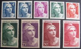 LOT BP/219 - 1945 - MARIANNE DE GANDON - N°725 à 732 NEUFS** (N°733 NEUF* - Cote : 40,90 € - France