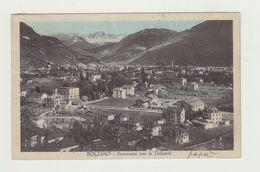 BOLZANO - PANORAMA CON LE DOLOMITI - VIAGGIATA 1930 - BOLLO STACCATO - POSTCARD - Bolzano