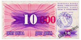 BOSNIA-HERZEGOVINA 10000 DINARA 1993 Pick 53f Unc - Bosnia And Herzegovina