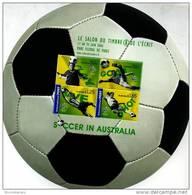 AUSTRALIA - 2006  SOCCER IN AUSTRALIA  MS  OVERPRINTED LE SALON DU TIMBRE MINT NH - Blocchi & Foglietti