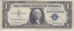 BILLETE DE ESTADOS UNIDOS DE 1 DOLLAR DEL AÑO 1957 LETRA I WASHINGTON  (BANK NOTE) CALIDAD EBC (XF) - Billets De La Federal Reserve (1928-...)