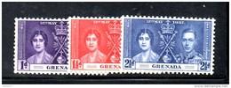 132 - GRENADA 1937 , Incoronazione Di Giorgio VI  *** - Grenada (...-1974)