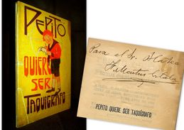 PEPITO QUIERE SERTAQUIGRAFO F. MARTIN EZTALA LECCIONES De TAQUIGRAFIA Para Los NINOS Stenographie Firmado Signé 1924 ! - Children's