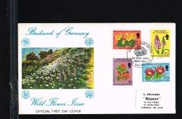 1972 - Great Britain-Guernsey FDC Mi. 67-70 - Flora - Flowers [FZ053] - Guernsey