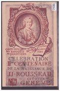 GENEVE - CELEBRATION DE LA NAISSANCE DE J.J. ROUSSEAU - TB - GE Genève
