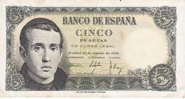 BILLETE DE ESPAÑA DE 5 PTAS DEL 16/08/1951 SERIE 1F EN CALIDAD EBC (XF) (BANKNOTE) - [ 3] 1936-1975 : Régimen De Franco