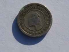 1,1/4 Cents 1871 - Colombia