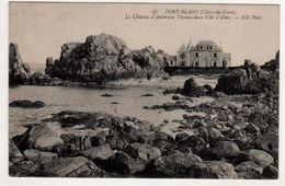PORT-BLANC  Le Château D'Ambroise Thomas Dans L'Ile D'Illiec.  Carte écrite En 1908  2 Scans  TBE - France