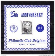 25 Ans Du Philatelic Club De Belgique, E 130**, Cote 25 €, - Commemorative Labels