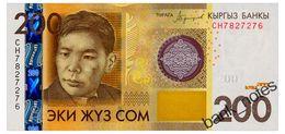 KYRGYZSTAN 200 SOM 2016 Pick New Unc - Kyrgyzstan