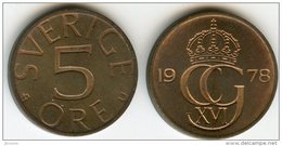 Suède Sweden 5 Ore 1978 U KM 849 - Suède