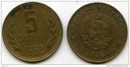 Bulgarie Bulgaria 5 Stotinki 1962 KM 61 - Bulgarien