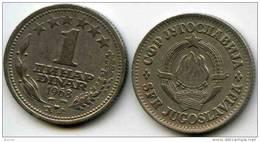 Yougoslavie Yugoslavia 1 Dinar 1968 KM 48 - Jugoslavia