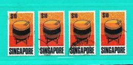 Singapur  Nº Yvert  107 (Lote 4 Sellos)  USADO - Singapur (1959-...)