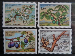 1990  MONACO PREOBLITERES  Y&T N° 106 à 109 ** - LES 4 SAISONS DU PRUNIER - Unused Stamps