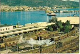 Messina-Arrivo Alla Stazione Marittima Con Treni-1964 - Messina