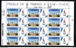 12 TP HAUT DE PAGE JEUX OLYMPIQUES DE 2024 FRANCE 2017 0,73 VENEZ PARTAGER SURCHARGE 13 09 2017 LIMA Avec Vignette PARIS - France