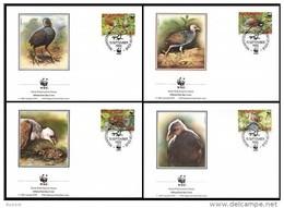Tonga Niuafo'ou 1992 Yvertn° 175-78 (°) Used FDC Cote 12,50 Euro Faune Oiseaux Vogels Birds - Tonga (1970-...)