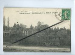 CPA   - Villiers Sur Marne - (S -et- O) - Bois De Gaumont - La Rue Georges - Vue De La Ligne Du Chemin De Fer - Villiers Sur Marne