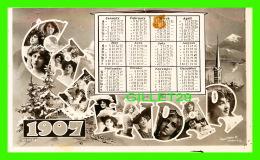 VIEUX PAPIERS, CALENDRIER - CALENDAR 1907 - RAPID PHOTO CO - E.C. - RAPID PHOTO PRINTING CO LTD - - Calendriers
