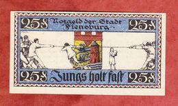 Notgeld, Stadt Flensburg, 25 Pfg, 1920 (41871) - Lokale Ausgaben