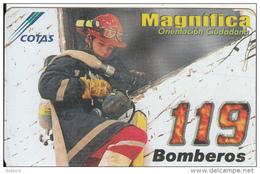 BOLIVIA - 119 Bomberos, Cotas Telecard6 Bs., 07/03, Used - Firemen