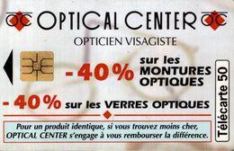 TELECARTE 50 UNITES OPTICAL CENTER - Telephones
