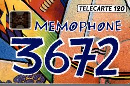 TELECARTE 50 UNITES MEMOPHONE 3672 - Téléphones