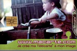 TELECARTE 50 UNITES JE CREE MA TELECARTE A MON IMAGE - Teléfonos