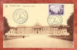 AK Bruxelles-Laeken, EF Sanatorium, SoSt Exposition Aerophilatelique Brussel 1933 (41873) - Belgien