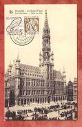 AK Bruxelles Le Grand Place, EF Ceres Mit Werbeteil, SoSt Exposition Aerophilatelique Brussel 1933 (41874) - Belgien