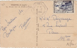 COTES DU NORD - Trevou Treguignec - Carte Postale  -CAD -TypeF7- 1954 - Marcofilie (Brieven)