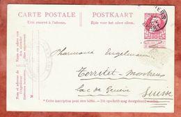 P 52 Koenig Leopold, Anvers Nach Territet, AK-Stempel 1910 (41876) - Ganzsachen