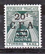 Réunion Taxe  47 CFA Gerbes Surchargés Neuf ** MnH Sin Charmela Cote 24.5 - Impuestos