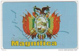 BOLIVIA - Escudo De Armas De La Republica De Bolivia, Cotas Telecard Bs. 6, 08/01, Used - Bolivia