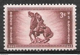 1948 3 Cents Rough Riders Mint Never Hinged - United States